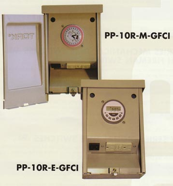 tork 2 circuit pool time switches with while in use gfci nema 3r ideal for small pools
